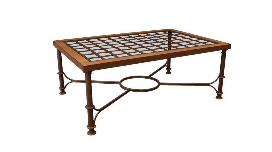 Mesa regulable y elevable en altura para salón, mesa de comedor o camilla en invierno, de centro o forja en verano.