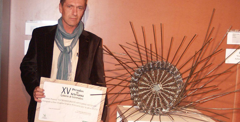 Vicente Gragera Almirante Primer Premio Extremadura de Artesanía Artística